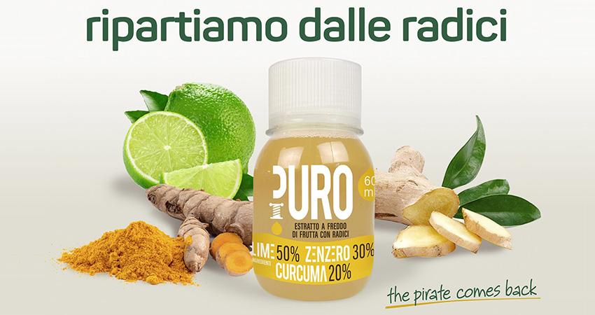 McGarlet riparte dalle radici e lancia una nuova ricetta dell'estratto PURO, mix di lime, zenzero e curcuma