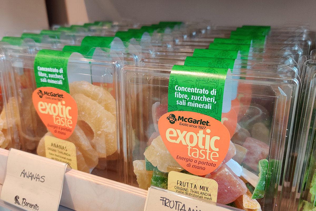 Tra le linee di frutta disidratata McGarlet c'è Exotic Taste